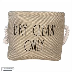 Rae Dunn DRY CLEAN ONLY Basket Rope Handles